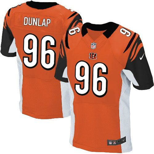 48393366a55 Nike Bengals  96 Carlos Dunlap Orange Alternate Men s Stitched NFL Elite  Jersey