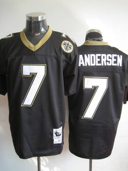 1dba2e1ae Mitchell And Ness Saints  7 Morten Andersen Black Stitched Throwback NFL  Jersey